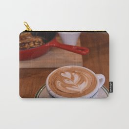 Caffe Macchiato with Breakfast - Cafe or Kitchen Decor Carry-All Pouch
