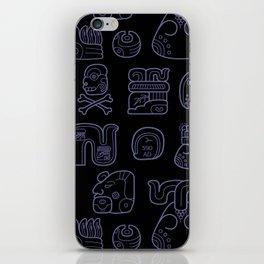 Picto-glyphs Story--Negro iPhone Skin