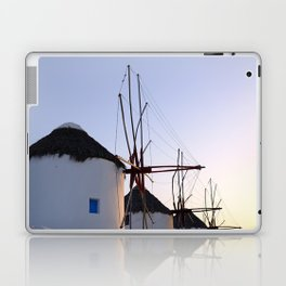 Famous Mykonos Windmills in Greece Laptop & iPad Skin