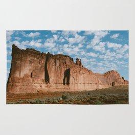 Huge rock outcropping in Utah Rug