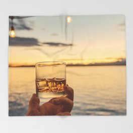 Cheers to the Sea Throw Blanket