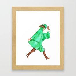 Emerald City Fashion. Framed Art Print