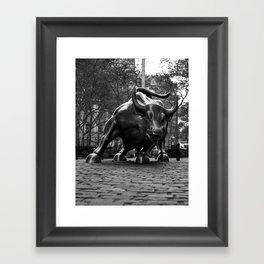 Wall Street Bull Framed Art Print