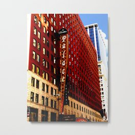 Vintage Chicago: Cadillac Palace theatre photography Metal Print