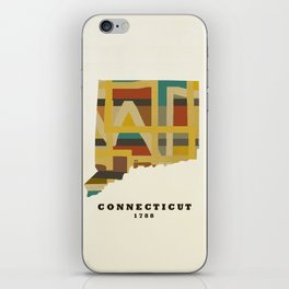 Connecticut state map modern iPhone Skin