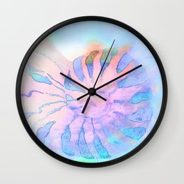 NAUTILUS CONCH SEA SHELL IMPRESSION Wall Clock