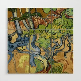 Tree Roots by Vincent van Gogh (July 1890) Wood Wall Art