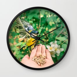 Great tit (Parus major) Wall Clock