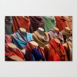 Pashmina Shawls Canvas Print