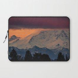 Autumn Morning Light on Mount Rainier Laptop Sleeve
