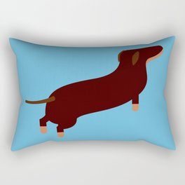 animal : Dachshund Rectangular Pillow