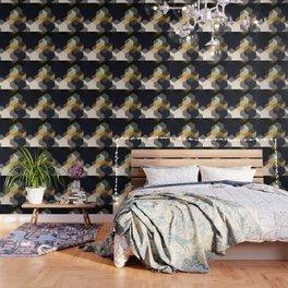 CUBE 1 GOLD & BLACK Wallpaper