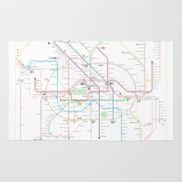 Germany Berlin Metro Bus U-bahn S-bahn map Rug