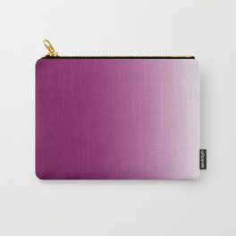 Ombre in Purple White Carry-All Pouch