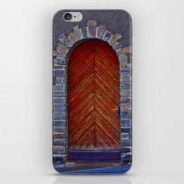 Wood Door iPhone Skin