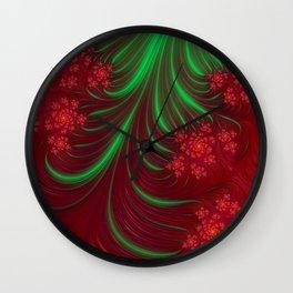 Christmas Flow - Fractal Art Wall Clock