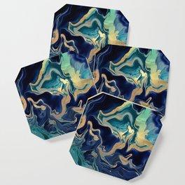 DRAMAQUEEN - GOLD INDIGO MARBLE Coaster