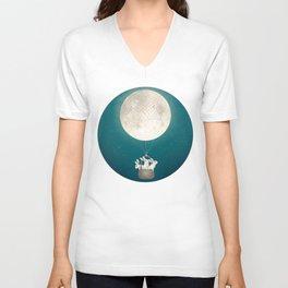 moon bunnies Unisex V-Neck