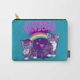 Kittens & Rainbows Carry-All Pouch