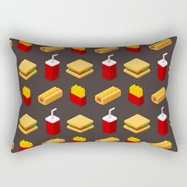 Isometric junk food pattern Rectangular Pillow