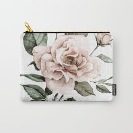 Faded Pink Rose Carry-All Pouch