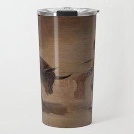 Bullfight in a Divided Ring Travel Mug