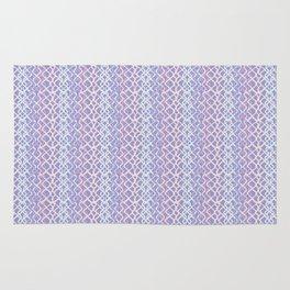 Lilac Abstract Fish Net Loop Pattern Rug