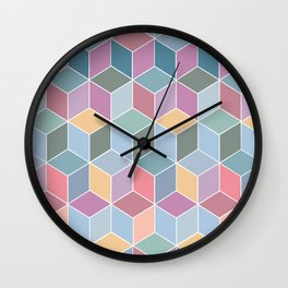 Cubes - Various Colours Wall Clock
