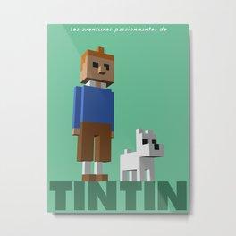 Tintin voxel tribute Metal Print