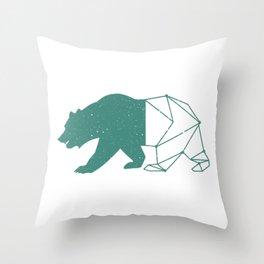 California Grizzly Bear - Vintage Starry Sky Print Throw Pillow