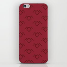 Twin Peaks Owl Petroglyph in Curtain Red iPhone Skin