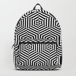 Op art hexagon Backpack