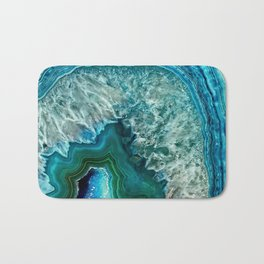 Aqua turquoise agate mineral gem stone - Beautiful Backdrop Bath Mat