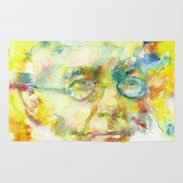 HENRIK IBSEN - watercolor portrait Rug