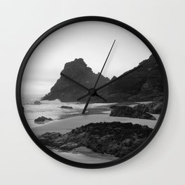 Mist Rolling in at Kynance Cove Wall Clock