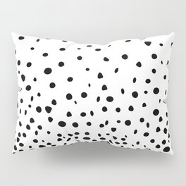 Black Polka Dot Rain Pillow Sham