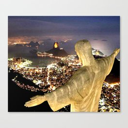Christ the Redeemer ✝ Statue  Canvas Print