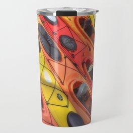 Kayak Art Travel Mug