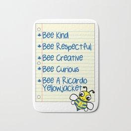 Bee a Yellowjacket Bath Mat