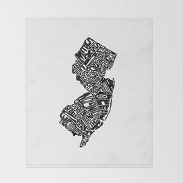 Typographic New Jersey Throw Blanket