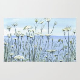 Queen Anne's lace, Watercolour Rug