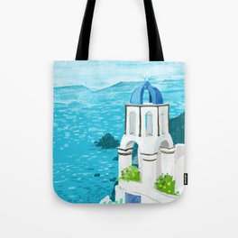 Greek Landscape #painting #travel #greece Tote Bag