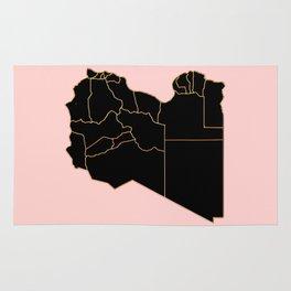Libya map Rug