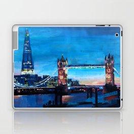 London Tower Bridge and The Shard at Dusk Laptop & iPad Skin