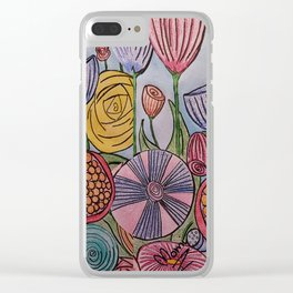 Floral Pillow. Clear iPhone Case