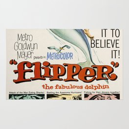 Vintage Classic Movie Posters, Flipper Rug