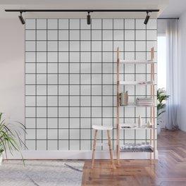 Grid Simple Line White Minimalistic Wall Mural