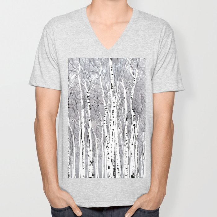 Birch Trees Unisex V-Neck
