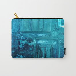 355 - Abstract Design through the Blue Bottle Carry-All Pouch