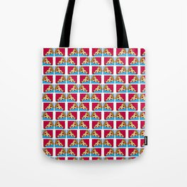 Geometric Pizza Tote Bag